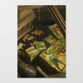 Antique Children's Toys On Show Canvas Print