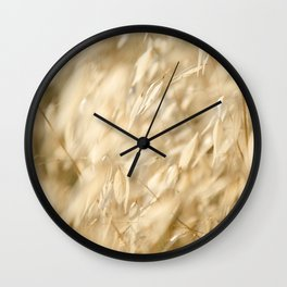 Soft Golden Field 2 Wall Clock