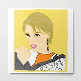 Knock Knock! Jungyeon Yellow Metal Print