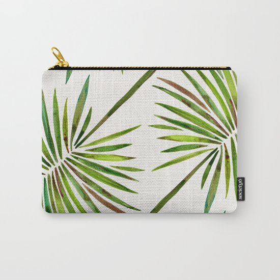 Tropical Fan Palm – Green Carry-All Pouch