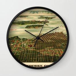 Map Of Sandusky 1898 Wall Clock