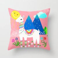 peru Throw Pillows featuring Peru - Pastels by MY  HOME
