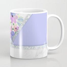MINIMAL PURPLE FLORAL MARBLE Coffee Mug
