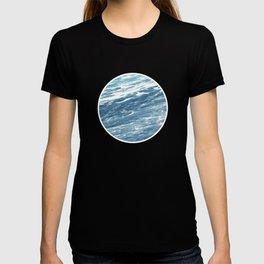 Ocean Water Waves Foam Texture T-shirt