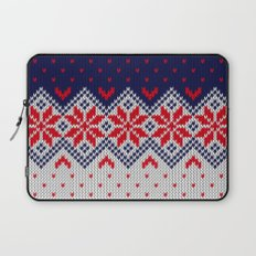 Winter knitted pattern 11 Laptop Sleeve