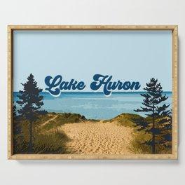 Lake Huron Retro Serving Tray