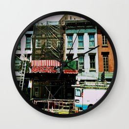 NYC Street Photography Wall Clock