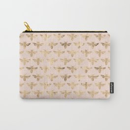 Honey Bees (Pink) Carry-All Pouch