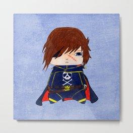 A Boy - Captain Harlock  / Albator Metal Print