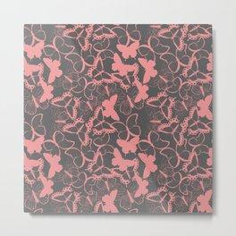 Butterfly pattern 012 Metal Print