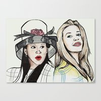clueless Canvas Prints featuring 'Clueless' by madebylouise