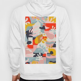Abstraction in Amalfi / Mid-Century Colorful Shapes Hoody