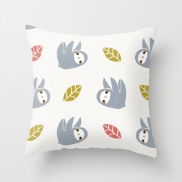 sloth pattern Throw Pillow