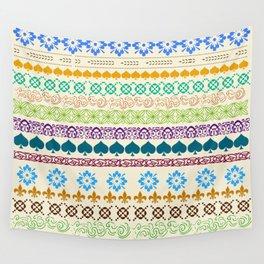 Swedish Sunshine Folk Art Wall Tapestry