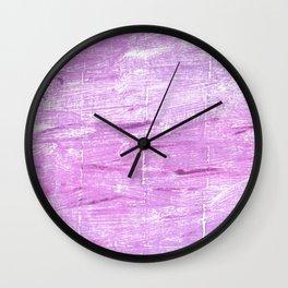 Magenta painting Wall Clock