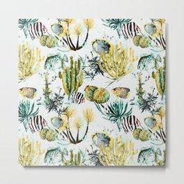 Fish on the cactus Metal Print