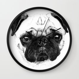 A pug Wall Clock