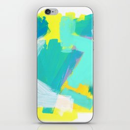 Be Kind, Be OK - mint modern mint abstract painting pastel colors iPhone Skin