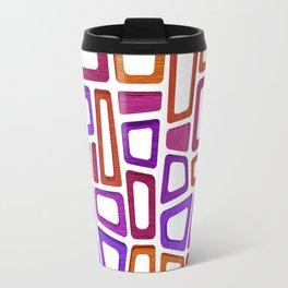 Honolulu Modern - Pink Orange Midcentury Pattern Travel Mug