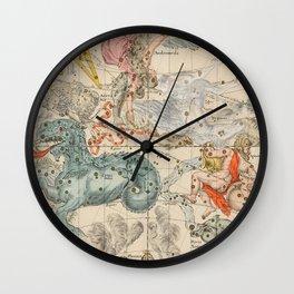 Vintage Celestial & Astrological Map  (1693) Wall Clock