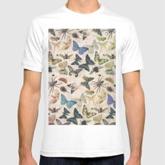 Insect Jungle MEDIUM White Mens Fitted Tee