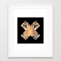 leopard Framed Art Prints featuring Leopard by Zavu
