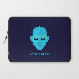 The Ice King - Winter is here Vector Poster Laptop Sleeve
