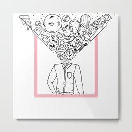 Mind-Blowing Doodles Metal Print
