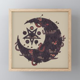 The Dark Moon Compels You to Fuck Shit Up Framed Mini Art Print