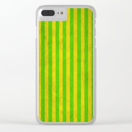 Stripes Collection: Irish Morning Clear iPhone Case