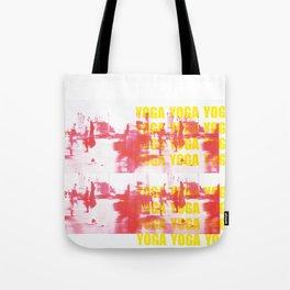 Urban Yoga and Typography Tote Bag