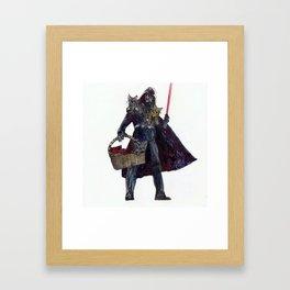 Cat Dad Vader Framed Art Print