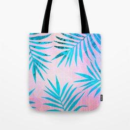 Refreshing Geometric Palm Tree Leaves Tropical Chill Design Tote Bag