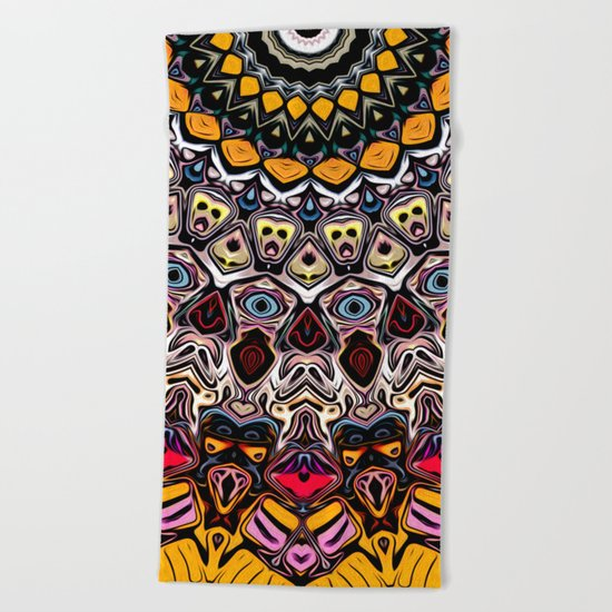 Colorful Balance of Shapes Beach Towel
