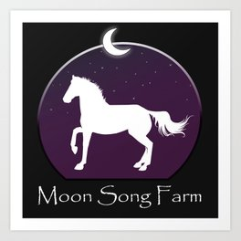 Moon Song Farm Logo Art Print