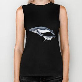Humpback whale with calf Biker Tank