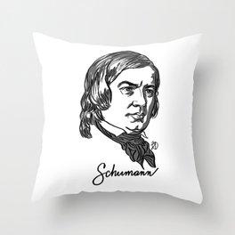Robert Schumann composer portrait Throw Pillow