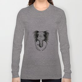Sketch Elephant Long Sleeve T-shirt