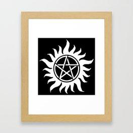 Anti Possession Sigil White Framed Art Print