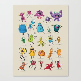 Fruity Monsters Set 2 Canvas Print
