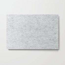 White Washed Brick Wall Stone Cladding Metal Print
