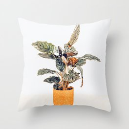 Botany || #illustration #painting #nature Throw Pillow