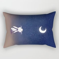 Moon Bunny Rectangular Pillow