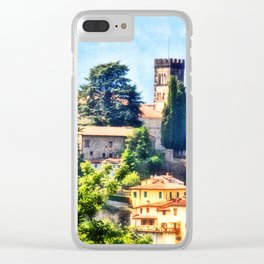 Duomo of Barga (color) Clear iPhone Case