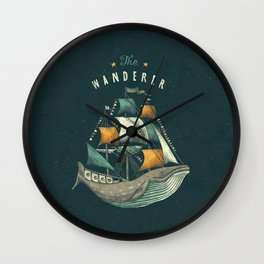 Whale | Petrol Grey Wall Clock