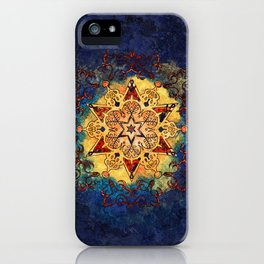 Star Shine in Gold and Blue iPhone Case