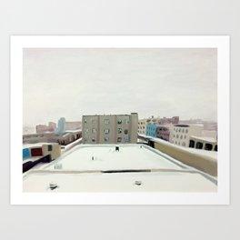 Snow Tribute print of an original oil painting Art Print