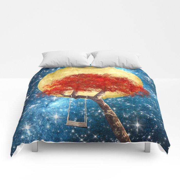Swing Under a Golden Moon Comforters