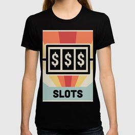 Vintage Style Slot Machine Design T-shirt
