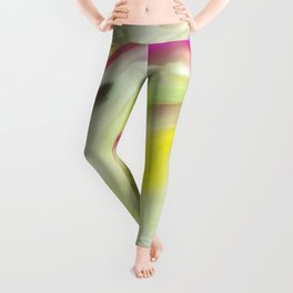 Magnolia Watercolor Abstraction Painting Leggings